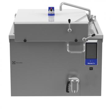 Massey Catering - Electric pressure boiling pan 300lt, rectangular with mixing tap, backsplash