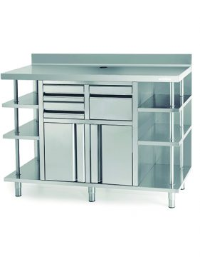 Massey Catering - Back Bar Coffee Unit & Shelving
