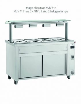 Massey Catering - Bain Marie with Sneeze Guard