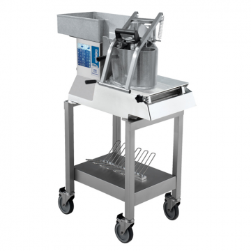 Massey Catering - Vegetable Slicer TR260 Vegetable Slicer – 2 Speed – with lever hopper on stand