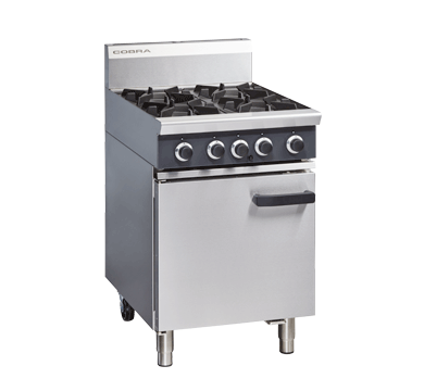 Massey Catering - Blue Seal Cobra – 600mm Four Burner Gas Range Static Oven
