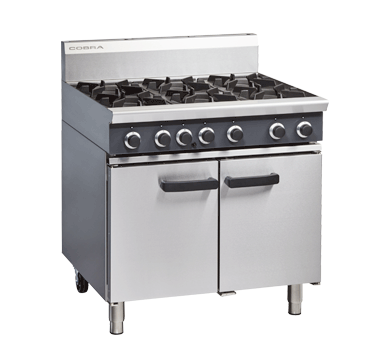 Massey Catering - Blue Seal Cobra – 900mm Six Burner Gas Range Static Oven